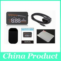 Wholesale 3 inch X5 Car HUD Head up Display Alarm Security System Fuel Consumption Head Up Display for All Vehicles