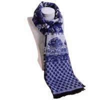 Wholesale May mulberry silk brushed genuine new winter men s scarves long paragraph scarf upscale warm SWJ07