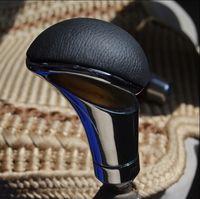 Wholesale Car leather gear head quality carbon fiber shift knob manual automatic general stalls knob gear stick head