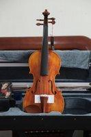 Wholesale Master hand Varnish well flamed maple violin Send Violin Case Violin bow size