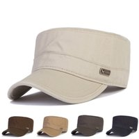 adjustable cadet hats - New Solid Cotton Military Hats Classic Polo Style Baseball Caps Men s Cadet Hat Adjustable Patrol Fatigue Army Cap