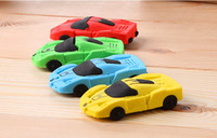 Wholesale car pattern eraser New Creative Simulation colors Eraser Office Supply Rubber Eraser Stationery Gifts very cute