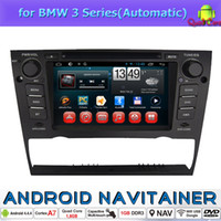 Wholesale Auto Dvd CD Radio Player Quad Core Android for BMW Series Automatic Car Dvd GPS Din Bluetooth G Wifi TV USB RDS OBD2