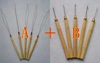wooden hook - Retails Or TOP QUALITY Wooden Handle Hook Needles Hair Extension Tools For Hair Accessories Crochet Hook Factory Price Cheapest