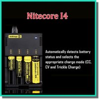 Wholesale Original Ecigarette Battery Charger Nitecore Intellicharge I4 i2 Charger With High Quality