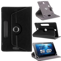Wholesale Universal Tablet PC Cases Degree Rotating Case PU Leather Stand Cover inch Fold Flip Covers with Card Buckle for Mini iPad