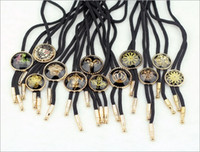 Wholesale Classic Retro Crystal Flower Bolo Ties Shoestring Necktie For Women Men Statement Necklace Fashion tie W939