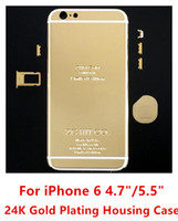 PH88802 key cover - ZG k Gold Plating Metal White Line Back Housing Door Case Cover With Sim Card Tray Volume Button Mute key Set For iPhone Plus