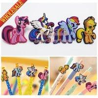 al por mayor kawaii-Mejor para los regalos 4pcs / set My Little Pony historieta encantadora Lápiz Cap para lápices estándar, Lápiz Manga, Kawaii Pen Lápiz Loops, Pen Caps / Topper