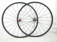 Wholesale 700C Carbon Road Bicycles mm Bike Wheel Set mm Width Free Gifts Straight Pull R36 hub