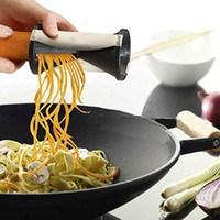 Wholesale kitchen tools Spirelli Grater Vegetable Julienne Spiral Slicer Spiral Vegetable Fruit Slicer Twister Vegetable Cutter
