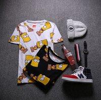 bart t shirt - Summer Mens Bart Simpson T shirt Short Sleeve Cartoon Shirt Cotton Head Portrait Print Lovers Shirts