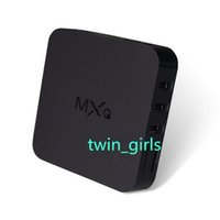 Wholesale 2014 New Original MXQ TV BOX Amlogic S805 Quad Core Android Kitkat K GB GB XBMC WIFI Airplay Miracast D