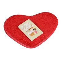 Wholesale Top Quality cm Heart Shaped Non slip Carpet Bath Mats Kitchen Living Room Bedroom Coral Fleece Mattress Rugs S18