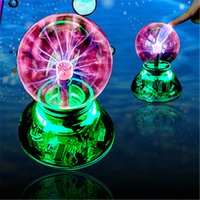 audio cables gifts - 2015 Novelty Lighting USB Magic Ball Glass Static Plasma Ball Sphere Electronic Magic Ball Light Lamp USB cable Audio control Gift box
