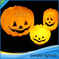 halloween pumpkin light - Glow LED Pumpkin Light Pumpkin Different Size Pumpkins Light Party Pumpkin Night Lamp Plastic Pumpkin Holiday Party Props Festival Gift