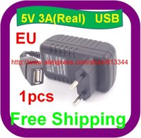 Cheap Wholesale-EU plug 5v 3000mA usb charger for Ainol novo 9 Hero II Spark Firewire quad tablet pc