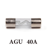 Wholesale In Stock Car AGU Glass Fuse Silver Plated AMP A For Car Audio