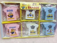 baby erasers - Minions erasers Cartoon Despicable me Mr Minions Pencil Rubber Stationery School Supplies Eraser baby minion earser D1524