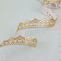 Wholesale 5 quot mm yards Gold Color PU Leather Ribbon embellishment