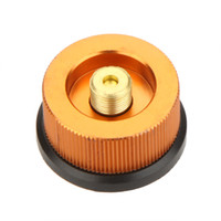 adapter camping - Outdoor Hiking Camping Stove Burner Split Type Furnace Converter Connector Auto off Gas Cartridge Tank Adapter DHL H12822