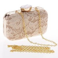 banquet style dinner - European And American Style Fashion Cover Floral Lace Hand Bag Champagne Female Dinner Banquet Singer Shoulder Bags