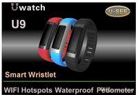 alarm clcok - 2016 new arrivel U9 Oled waterproof bluetooth smart watch with healthy alarm clcok pedometer anti lost bracelet watch