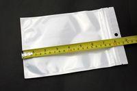 Precio de Bolsas de plástico para alimentos-Blanco perla 14 * 22cm Borrar + plástico poli OPP cremallera embalaje Zip bloquear paquetes al por menor bolsa de plástico PVC alimentos joyería 24 estilo DH envío libre