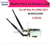 Wholesale 2PCS MACPRO PCI E X G G Airport Extreme BCM94322MC Dual frequency Wireless WIFI Card For All Mac Pro order lt no track
