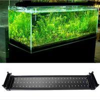 hood - 2015 New W Aquarium LED Lights V SMD Blue And White Mode Decorative Lamp For Fish Plant Lighting With EU UK US Plug epistar chip