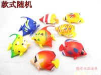 Wholesale 4cm Fishes tank decoration fake plastic artificial tropical cartoon fish aquarium