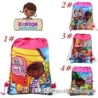 Wholesale Retail stylesDOC mcstuffins foreign trade small print double sided non woven beam port bag nonwoven fabric drawstring bag Draw
