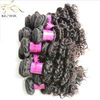 Wholesale Virgin Deep Curly remy human hair weft inch g pc Brazilian Peruvian Indian Malaysian Cambodian Russian Hair Bulks Braiding