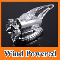 Wholesale High Quality Car Auto Scooter Wind Power LED Light Shark Fin Antenna Aerial Warning Flash Lamp Decorative Lamp C10