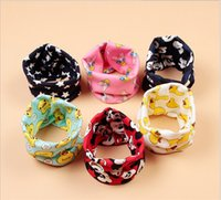 Wholesale 150pcs Girl Boy Ring Multicolor Winter Children baby Cartoon Scarf Kids Baby Woolen Thicken Keep Warm Scarves D483