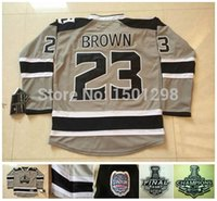 ashes series - 2014 Los Angeles Kings Stadium Series Jerseys Dustin Brown Jersey Silver Ash Grey LA Kings Brown Hockey Jerseys C Patch