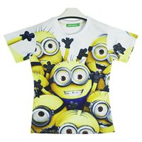 Cheap Hot cartoon anime figure despicable me minions clothes minion costume men women clothing t shirts boy wear