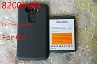 Wholesale Heliotion Recommend New Big Capacity mAh Replacement Extended Battery With Black Protective Case For LG G3 BL YH V Cell