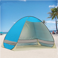 Wholesale New Portable Fashion Pop Up Beach Garden Tent Blue Tourism Outdoor Sun Shade Sand Tent fishing tent