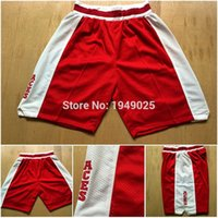 Wholesale Lower Merion Red Shorts Kobe Bryant Lower Merion Stitched Basketball Shorts Size M XXL