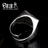 band saw - beier Europe and retro jewelry stainless steel ring for men ring opening Masonic All Seeing Eye