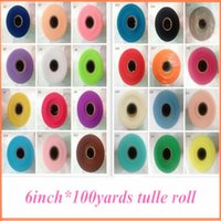 tulle spool - Pick Color New pc inch yard Tulle Roll Spool Fabric Tutu DIY Skirt Wedding Gift Craft Party Bow Tulle Tulle Rolls TR002