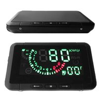 hud - 2015 Car HUD Head Up Display Vehicle mounted Security System With OBD2 OBD Interface Overspeed Warning Fuel Consumption W01