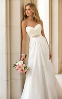 Cheap Fashionable Vestidos De Novia Sexy Chiffon Wedding Dresses 2015 Boho Cheap Sweetheart Sheath Court Train Bandage Robe De Mariage Casament