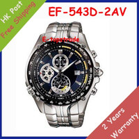 1 - Mens Sports D Chronograph Steel Watch EF D AV Gents Wristwatch EF D A With Second Stopwatch Pendulum Swing Function
