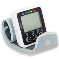 Wholesale High grade New patten Digital Wrist Blood Pressure monitor and Pulse Monitor Sphygmomanometer Portable Blood Pressure Monitor
