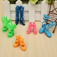 Wholesale New Pairs Trendy Assorted High Heel Shoes Cloth Accessories For Barbie Doll order lt no tracking