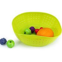 Wholesale Promotion New Modern Design Silicone Kitchen Drain Basket Rice Washing Vegetables Fruit Baskets Microwave Dish Cover