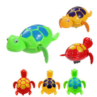 baby plastic pool - New Wind up Swimming Funny Turtle Turtles Pool Animal Toys For Baby Kids Bath Time C204