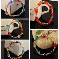 Pulseras de la bola del disco de Shamballa de los granos del cristal de la joyería de las pulseras de macramé brazal envoltura de la joyería de China manera barata para mujeres Los regalos